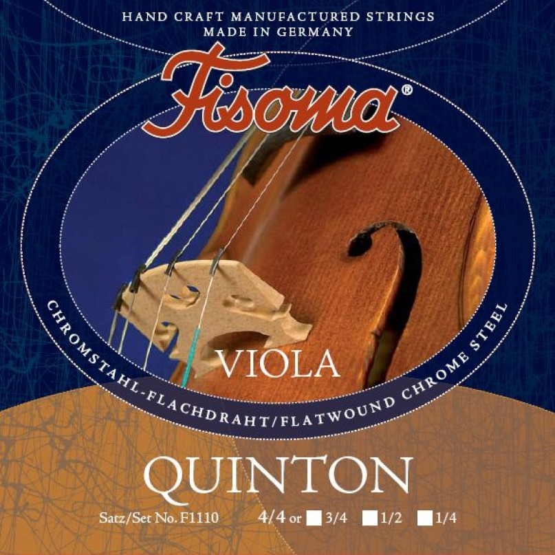 "Lenzner F1111 Fisoma Quinton 13"" Size Viola A String"