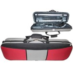 GSJ VC170 4/4 Oblong (Full Size) Two Tone Violin Case Red/Grey