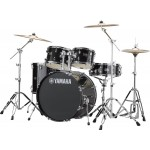 "Yamaha Rydeen 22"" Drum Kit w/ Hardware and Cymbals, Black Glitter JRDP2F5BLGCPSET"