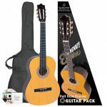 Pack of 6 Encore 1/2 Size Classical Guitar Packs - Natural - ENC12OFT