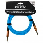 Tanglewood Flex Instrument Cable in Bright Blue