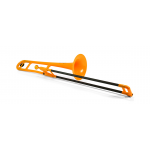 pBone PBONE1OR Orange Plastic Bb Tenor Trombone