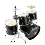 Percussion Plus PP923/BK Sonix Junior Drum Kit in Black