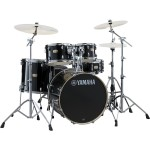 "Yamaha SBP0F5 Stage Custom Drum Kit with HW680 Hardware in Raven Black - Fusion Size 20"" Bass Drum (excluding cymbals)"