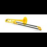pBone PBONE1Y Yellow Plastic Bb Tenor Trombone
